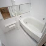 パナソニックUB「MR」  節水シャワーやワイドミラー、高断熱浴槽が使われています