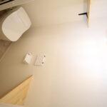 パナソニックトイレ「アラウーノS160」 節水トイレでエコなのに見た目もすっきり。ちょっとした小物が置ける棚も設置